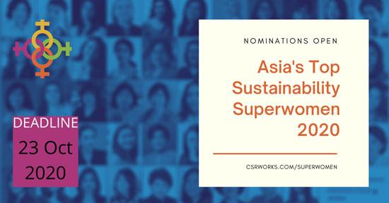 Superwomen-2020 Asia's Top Sustainability Superwomen